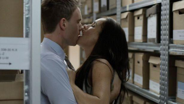 Meghan said her first filling room sex scene on Suits was 'weird' to film. Photo: Suits