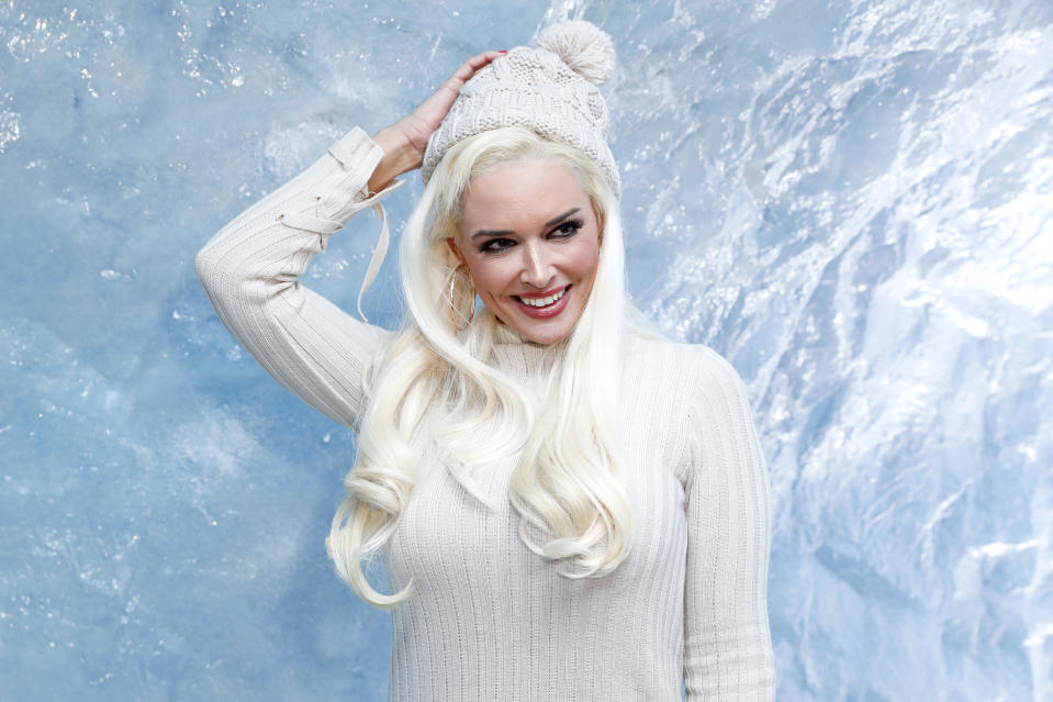 HAMBURG, GERMANY - FEBRUARY 20: Daniela Katzenberger during the Kinder Frozen Pop-Up Store Opening on February 20, 2019 in Hamburg, Germany. (Photo by Franziska Krug/Getty Images for Kinder)