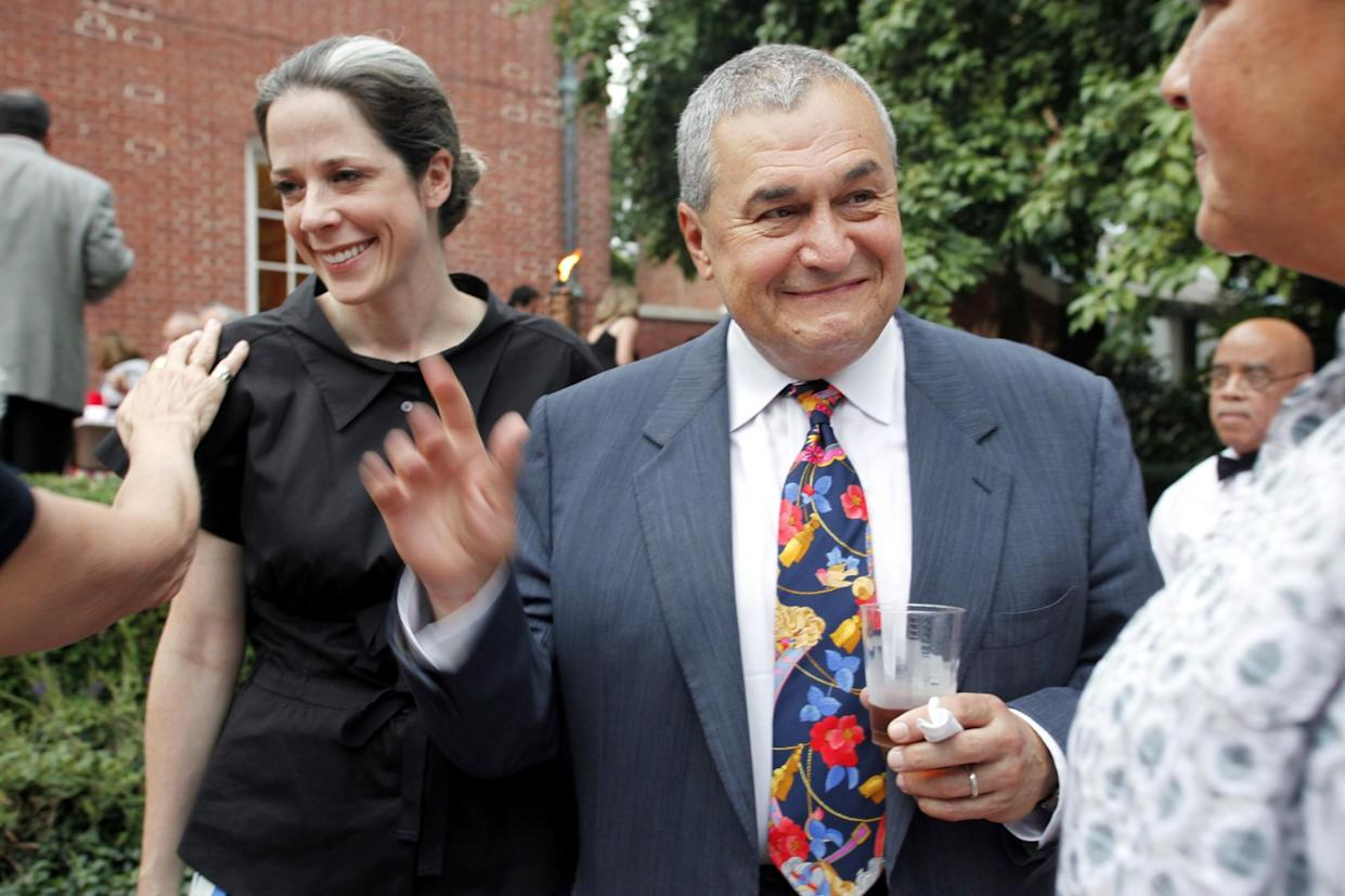 Heather Podesta and Tony Podesta, chairman of the Podesta Group, attend the intimate Summer Chic barbecue at Esther Coopersmith's Washington, D.C., home to celebrate the recent marriage of lawyer Jack Einwechter to Congresswoman Loretta <br>Sanchez, D-Calif., on Aug. 2, 2011. (Photo: Rebecca D'Angelo for the Washington Post)