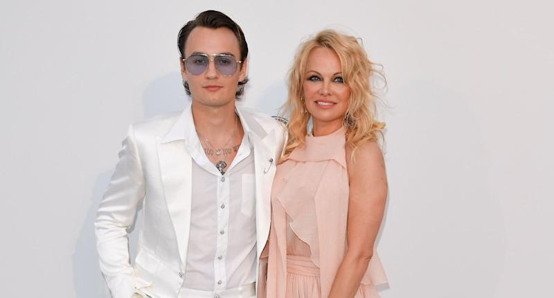 Brandon Thomas Lee and Pamela Anderson. (Photo by George Pimentel/WireImage)