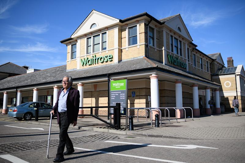"LONDON, ENGLAND - SEPTEMBER 13: A general view of the North Finchley branch of the supermarket chain Waitrose and Partners on September 13, 2018 in London, England. The John Lewis company has seen its half-year profits fall 99% from the previous year to just £1.2m. The company put some of the blame on the large number of sales offered by its competitors which John Lewis matched through their ""Never Knowingly Undersold"" price promise. (Photo by Leon Neal/Getty Images)"