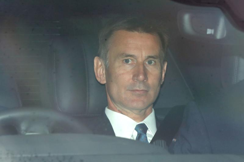 Not amused. Britain's Foreign Secretary Jeremy Hunt has told people to grow-up over his surname (Photo by Tolga AKMEN / AFP)
