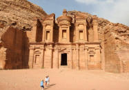 "<p>At is was my <a href=""http://blog.malaysia-asia.my/2015/10/petra-jordan-photos-with-samsung-galaxy_9.html"" rel=""nofollow noopener"" target=""_blank"" data-ylk=""slk:first time in Petra"" class=""link rapid-noclick-resp"">first time in Petra</a>, I could not believe the sheer size of the monastery and how it was carved out of a mountain. It's truly a must-visit place for any traveler and be prepared to be amazed! A lot of walking but there are camels, donkeys and even horse carriages available for rent. <i>—David Hogan, Jr., <a href=""http://blog.malaysia-asia.my/"" rel=""nofollow noopener"" target=""_blank"" data-ylk=""slk:Malaysia Asia"" class=""link rapid-noclick-resp"">Malaysia Asia</a></i><br></p>"