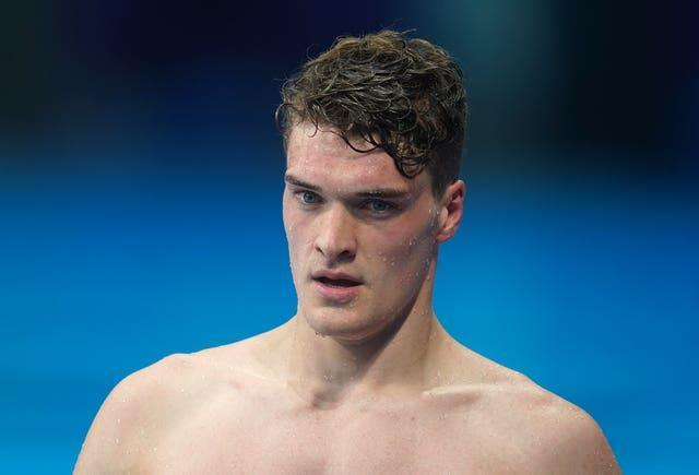 James Wilby is into the men's 200m breaststroke final (Adam Davy/PA)