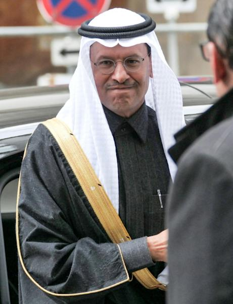 Saudi Minister of Energy Prince Abdulaziz bin Salman al-Saud had little to say to media as he attended his first OPEC meeting in his new role (AFP Photo/JOE KLAMAR)