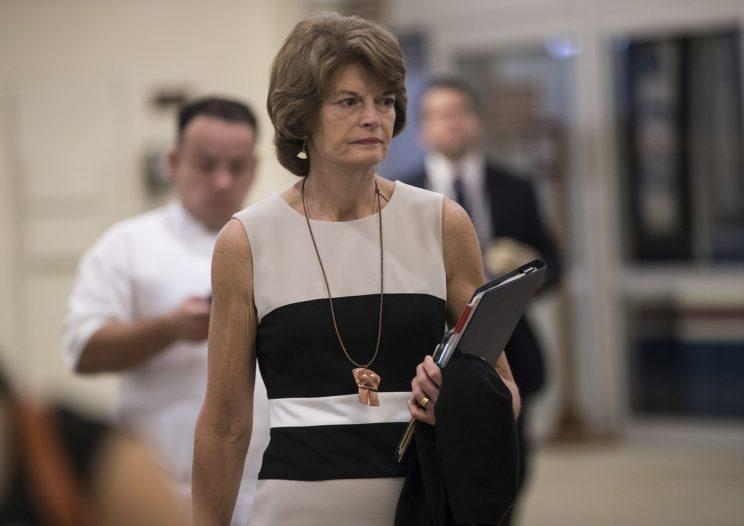 Sen. Lisa Murkowski, R-Alaska, arrives at the Capitol to join Senate Majority Leader Mitch McConnell, R-Ky., for the release of the Republican healthcare bill, the party's long-awaited attempt to scuttle much of President Barack Obama's Affordable Care Act, at the Capitol in Washington, Thursday, June 22, 2017. (Photo: J. Scott Applewhite/AP)