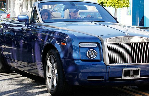 Scott and Kourtney Kardashian went for a spin in his Rolls Royce in March. (Nathanael Jones/Bruja/PacificCoastNews.com)