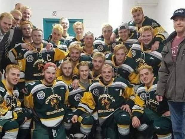 The 2018 Humboldt Broncos, less than a month before the deadly crash.