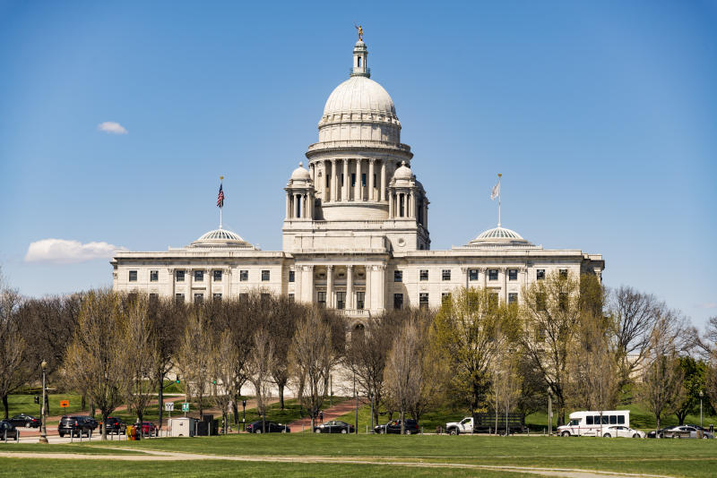 The Rhode Island State House in Providence, Rhode Island. (edella via Getty Images)