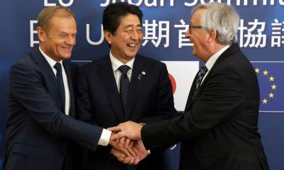 Donald Tusk appears to mock Britain after EU-Japan trade deal agreed