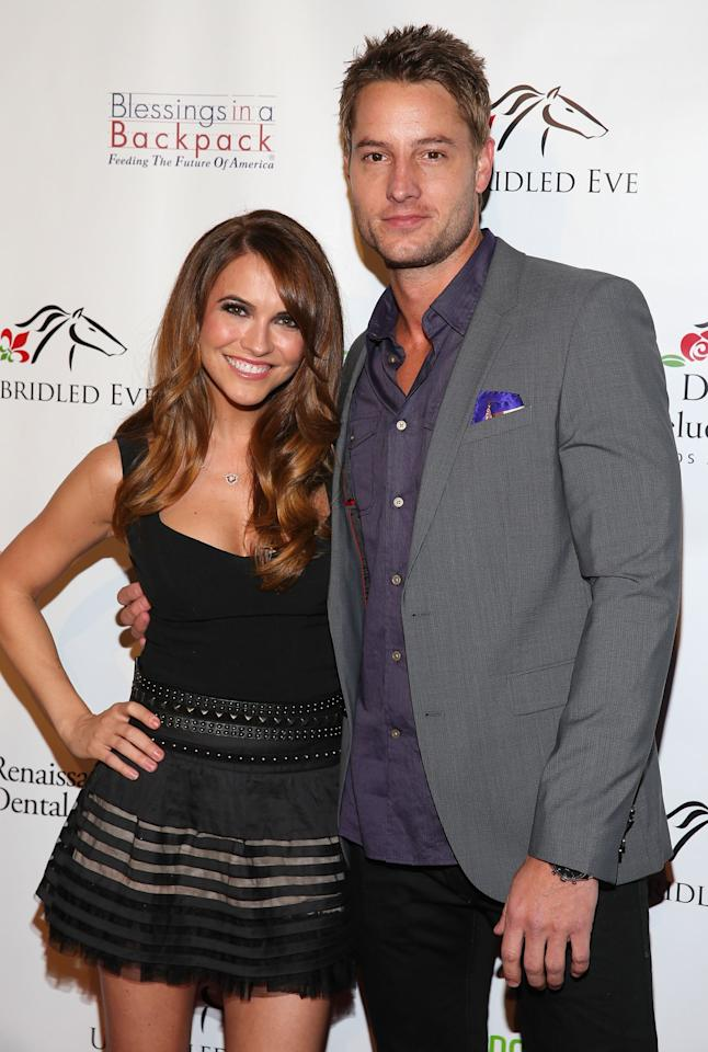 """<p>Though they technically met in passing early on in their soap opera careers, Chrishell and Justin didn't actually begin dating until late 2013 when <product href=""""https://people.com/tv/justin-hartley-and-chrishell-stause-open-up-about-first-date?xid=popsugar"""" target=""""_blank"""" class=""""ga-track"""" data-ga-category=""""Related"""" data-ga-label=""""https://people.com/tv/justin-hartley-and-chrishell-stause-open-up-about-first-date?xid=popsugar"""" data-ga-action=""""In-Line Links"""">they were set up by a mutual friend</product>. </p> <p>""""We met up at a concert and talked all night,"""" Justin previously told <strong>People</strong>. """"I drove her home and called the next day. We haven't been apart since. I knew right away [and] was like, 'Oh boy, here we go.'"""" Chrishell expressed similar sentiments, adding, """"The next day I texted my friend: 'I found him.'"""" </p> <p>Three months later, they made their red carpet debut as a couple at the fifth annual Unbridled Eve Derby party in LA.</p>"""