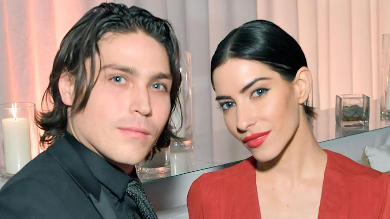 Lisa Origliasso of the Veronicas with her husband Logan Huffman
