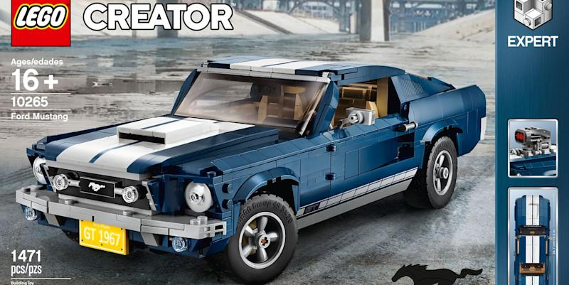 Lego 1967 Ford Mustang set lets vehicle enthusiasts recreate famous muscle auto