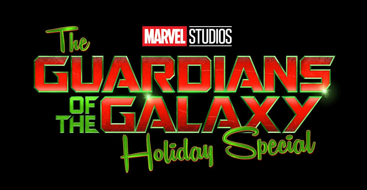 The title treatment for The Guardians of the Galaxy Holiday Special (Disney)