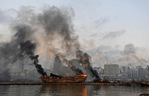 The blast obliterated Beirut's port facilities and triggered fires on board ships in dock