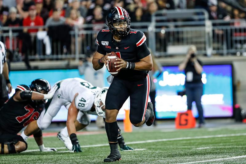 Ohio State quarterback Justin Fields is an early Heisman candidate for Buckeyes.