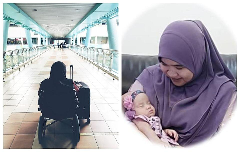 Rabiatul Adawiah, 35, delivered her baby girl via C-section while being treated for Stage 4 Covid-19 at Sungai Buloh Hospital earlier this year. ― Pictures via Facebook/Ezry Fahmy