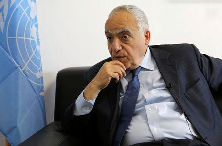 FILE PHOTO: U.N. Envoy to Libya, Ghassan Salame speaks during an interview with Reuters in Tripoli