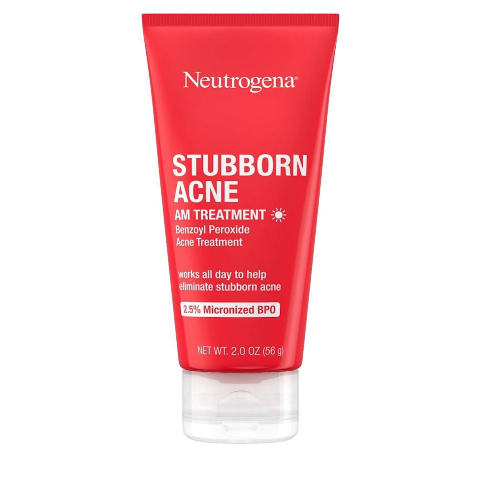<p>The <span>Neutrogena Stubborn Acne Morning Treatment</span> ($12) uses 2.5 percent benzoyl peroxide to kill acne-causing bacteria. Unlike some acne treatments, it can be used in the morning to help reduce acne during the hours that follow.</p>