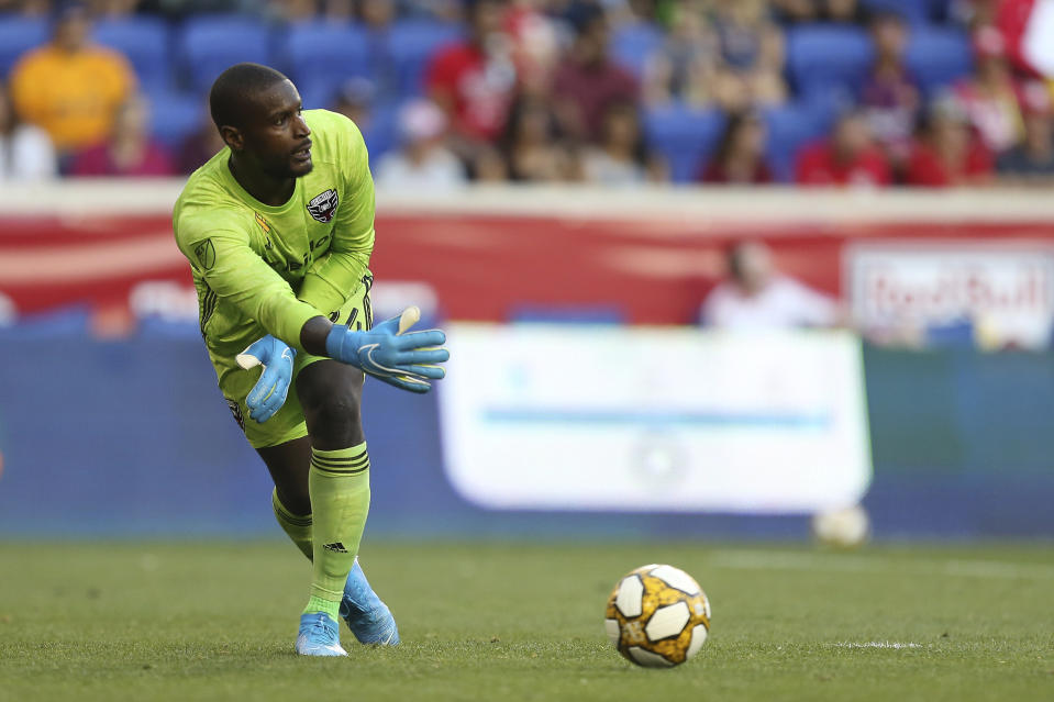 D.C. United goalkeeper Bill Hamid expressed frustration about players being restricted to the quarantine bubble during the MLS is Back Tournament. (AP Photo/Vera Nieuwenhuis)