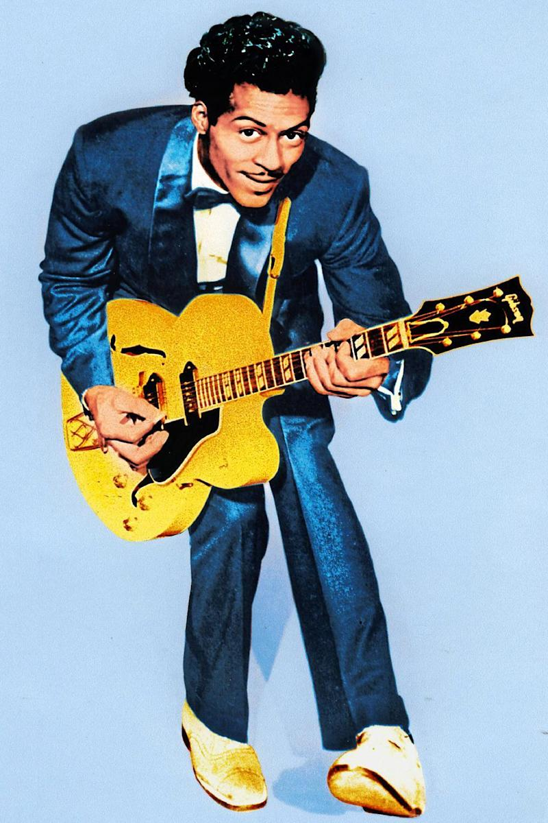 All singin', all dancin': the legendary Chuck Berry in familiar flamboyant pose in 1970 (Pictorial Press Ltd / Alamy)