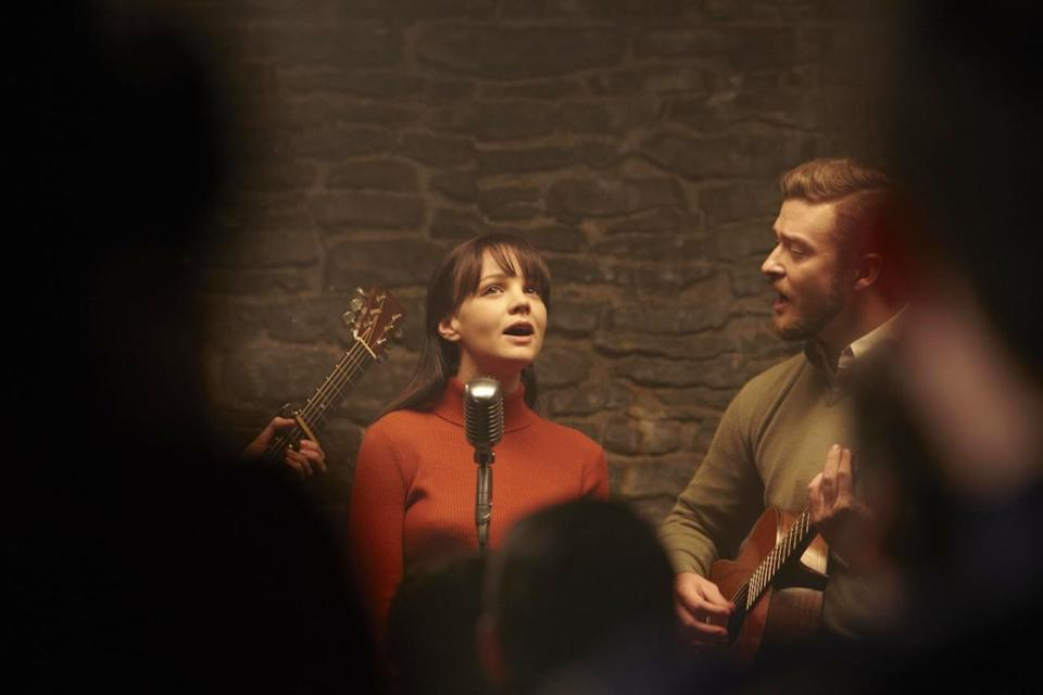 <p>In their ode to New York's Greenwich Village in the 1960s, the Coen brothers enlisted Carey Mulligan to play Jean, an emerging folk singer who, with her husband, Jim (played by Justin Timberlake), is trying to get a record deal. Mulligan, who is British, actually learned to sing for the role. Her outfits—high turtlenecks, shearling coats—are spot on for the chilled out vibes of the era. </p>