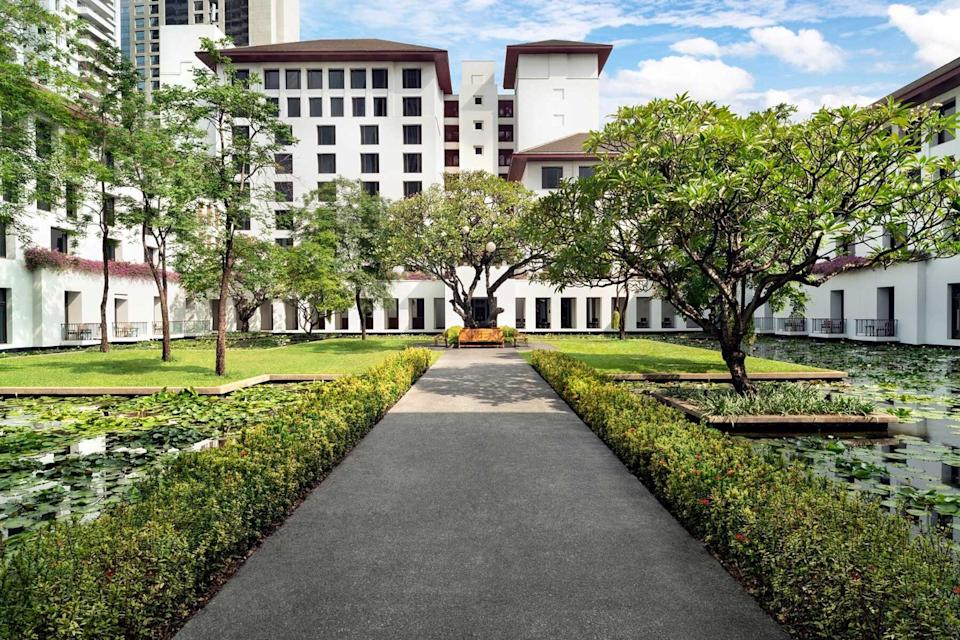 Exterior of the Sukhothai Bangkok, voted one of the best hotels in the world