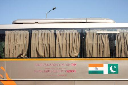 FILE PHOTO: The India-Pakistan 'friendship bus' is pictured at the Wagah-Attari border crossing, India, March 15, 2019. REUTERS/Alasdair Pal