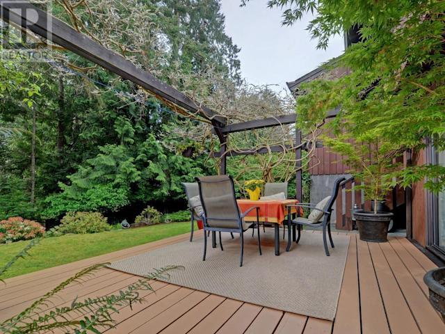 <p><span>4659 Deerwood Terrace, Victoria, B.C.</span><br> Relax on the private rear patio or rear deck — there are plenty of options! <br>(Photo: Zoocasa) </p>
