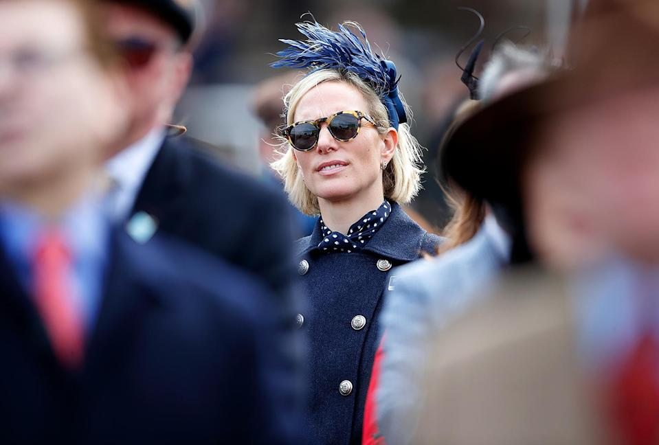 """<p>Former Olympian Zara Tindall loves spending time outdoors with her three kids — often at a horse event! — so it's no surprise that she has several pairs of fashionable sunglasses.</p> <p><strong>Buy It! Illesteva Leonard Sunglasses, <a href=""""https://click.linksynergy.com/deeplink?id=93xLBvPhAeE&mid=43945&murl=https%3A%2F%2Fillesteva.com%2Fproducts%2Fleonard-sunglasses%3Fvariant%3D33129029042275&u1=PEO18RegalMothersDayGiftsInspiredbyRealLifeRoyalMomspetitsRoyGal12686606202105I
