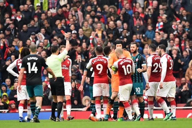 Arsenal's Jack Wilshere deserved red card, claims Southampton's Mark Hughes