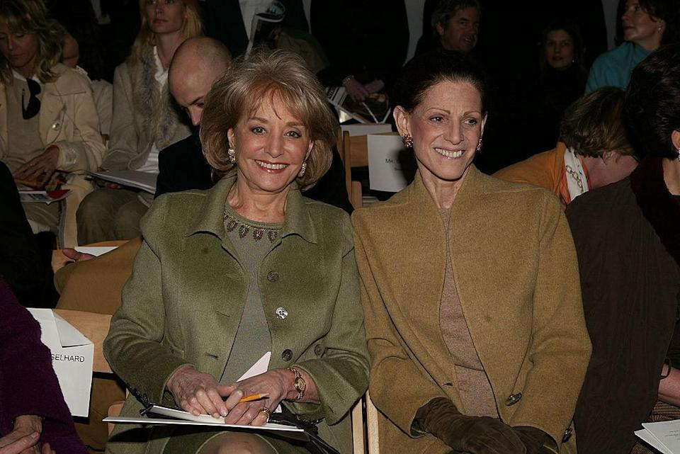 <p>Barbara Walters and Annette De La Renta looking regal up front. <i>(Peter Kramer/Getty Images)</i></p>