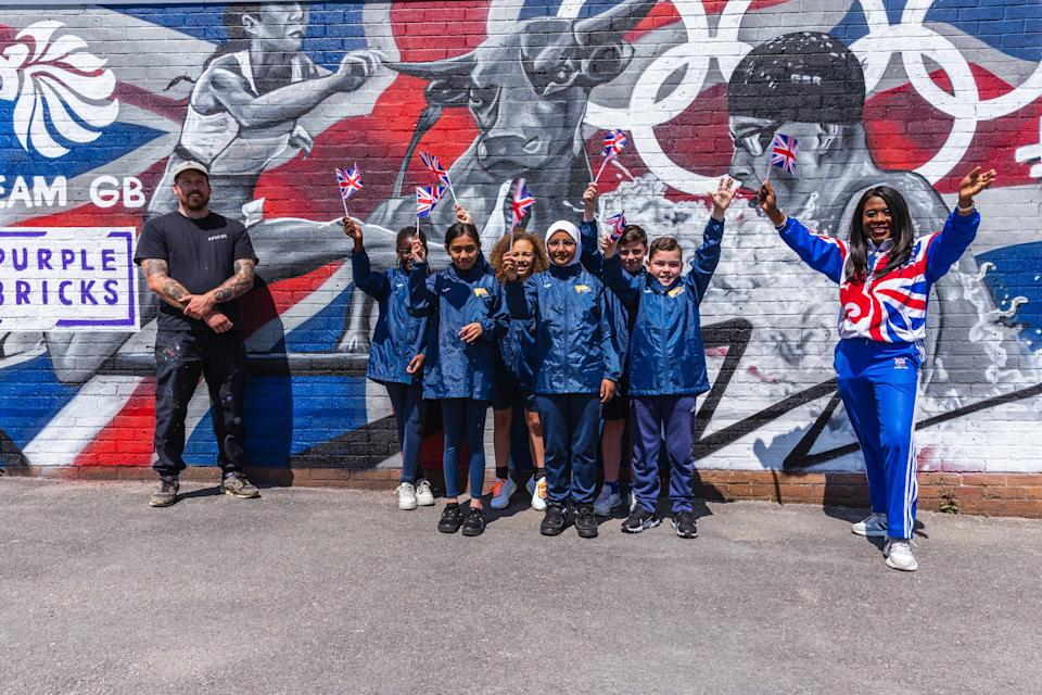 Tessa Sanderson has helped a unveiled a specially commissioned mural, one of 10 unique walls of art that will be appearing across the country to inspire home support for Team GB.