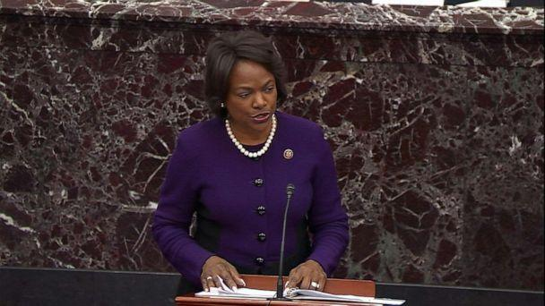 PHOTO: House Manager Rep. Val Demings delivers closing argument during the impeachment trial of President Donald Trump, Feb. 3, 2020, at the Capitol. (ABC News)