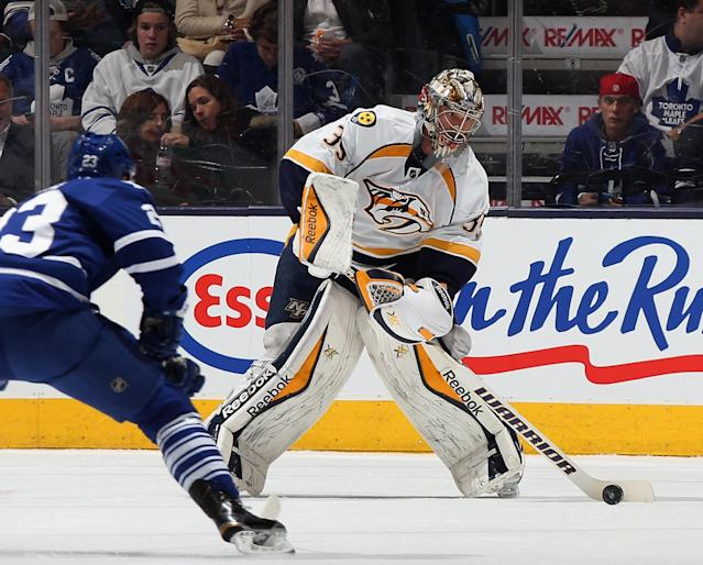 No doubt about it, Preds goalie Pekka Rinne back on top of his game
