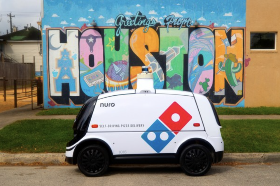 The new face of Domino's Pizza delivery.