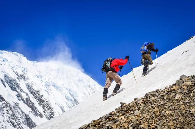 everest vr experience climbers stock photo
