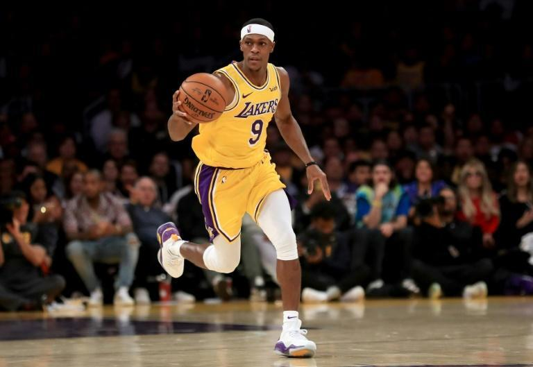 Los Angeles Lakers guard Rajon Rondo has been fined $35,000 by the NBA for unsportsmanlike conduct in a game against the Oklahoma City Thunder (AFP Photo/Sean M. Haffey)