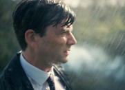 <p>In Season 2's fourth episode, as Hardy (David Tennant) and Ellie (Olivia Colman) drove to Sandbrook, Hardy finally shared the origin of the heart problem that's plagued him since before we met him. As he grimly recounted the day he found and retrieved a 12-year-old girl's body from the river, the sequence cuts between that flashback to the car conversation. It's what <i>Broadchurch</i> does best: a haunting, beautifully executed montage that makes the reveal worth the wait (and the weight). <i>— Mandi Bierly</i></p><p><i>(Credit: BBC America)</i></p>