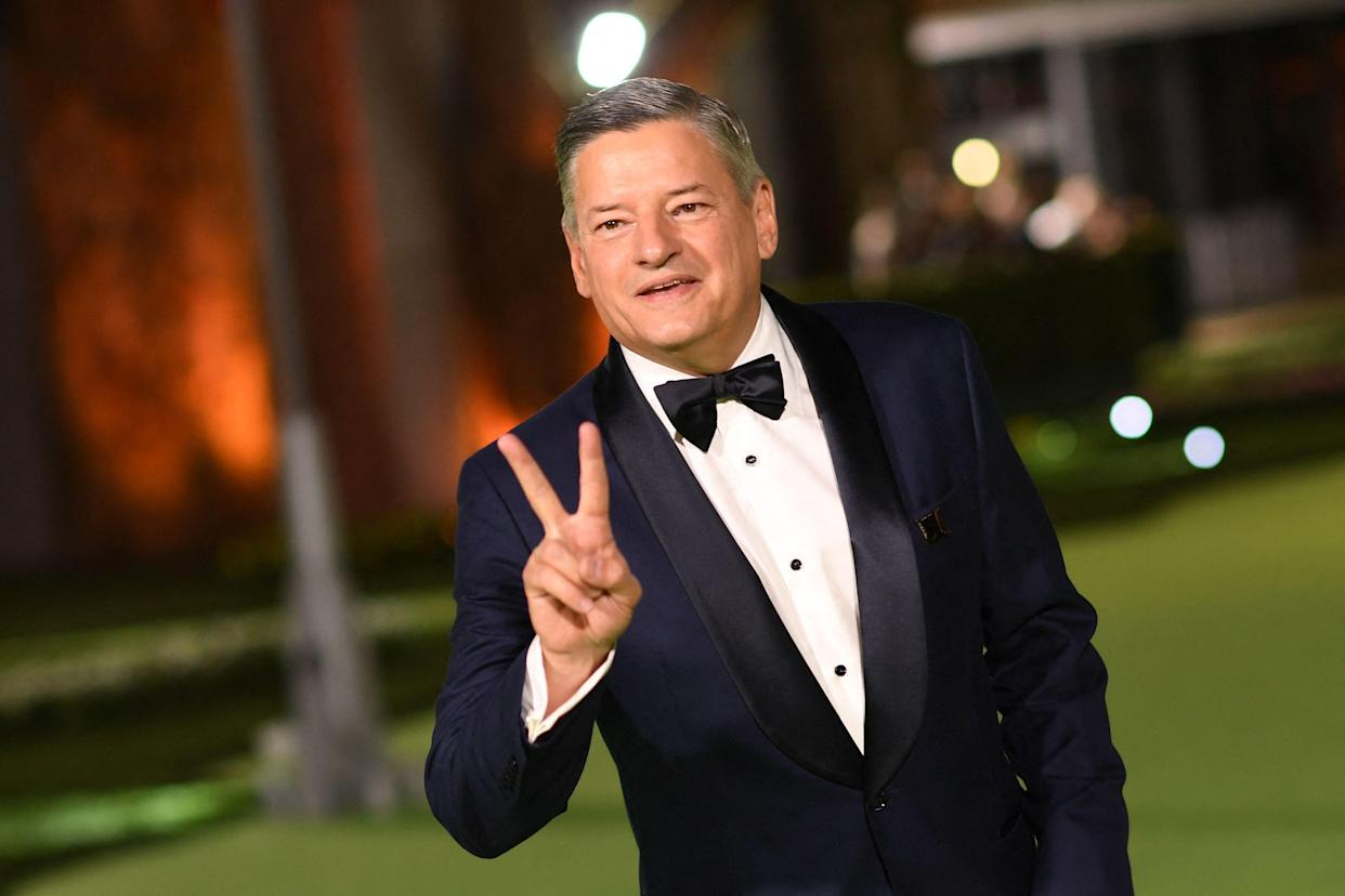 Co-CEO of Netflix Ted Sarandos arrives for the Academy Museum of Motion Pictures opening gala on September 25, 2021 in Los Angeles, California. (Photo by VALERIE MACON / AFP) (Photo by VALERIE MACON/AFP via Getty Images)