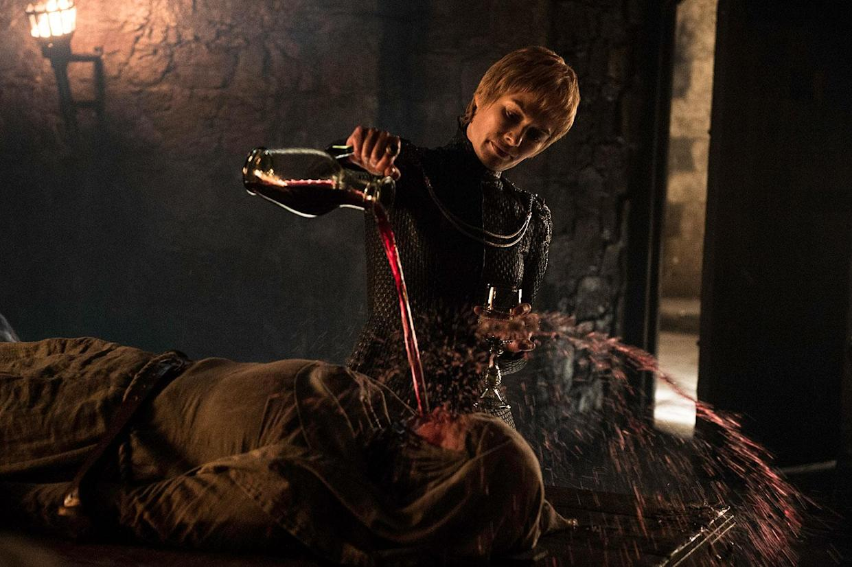 Lena Headey as Cersei Lannister tortures Hannah Waddingham's Septa Unella in Game of Thrones' S6 finale The Winds of Winter (HBO/Sky Atlantic)