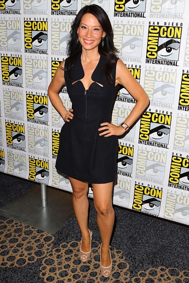 "Lucy Liu (""Elementary"") at Comic-Con International on July 12, 2012 in San Diego, California."