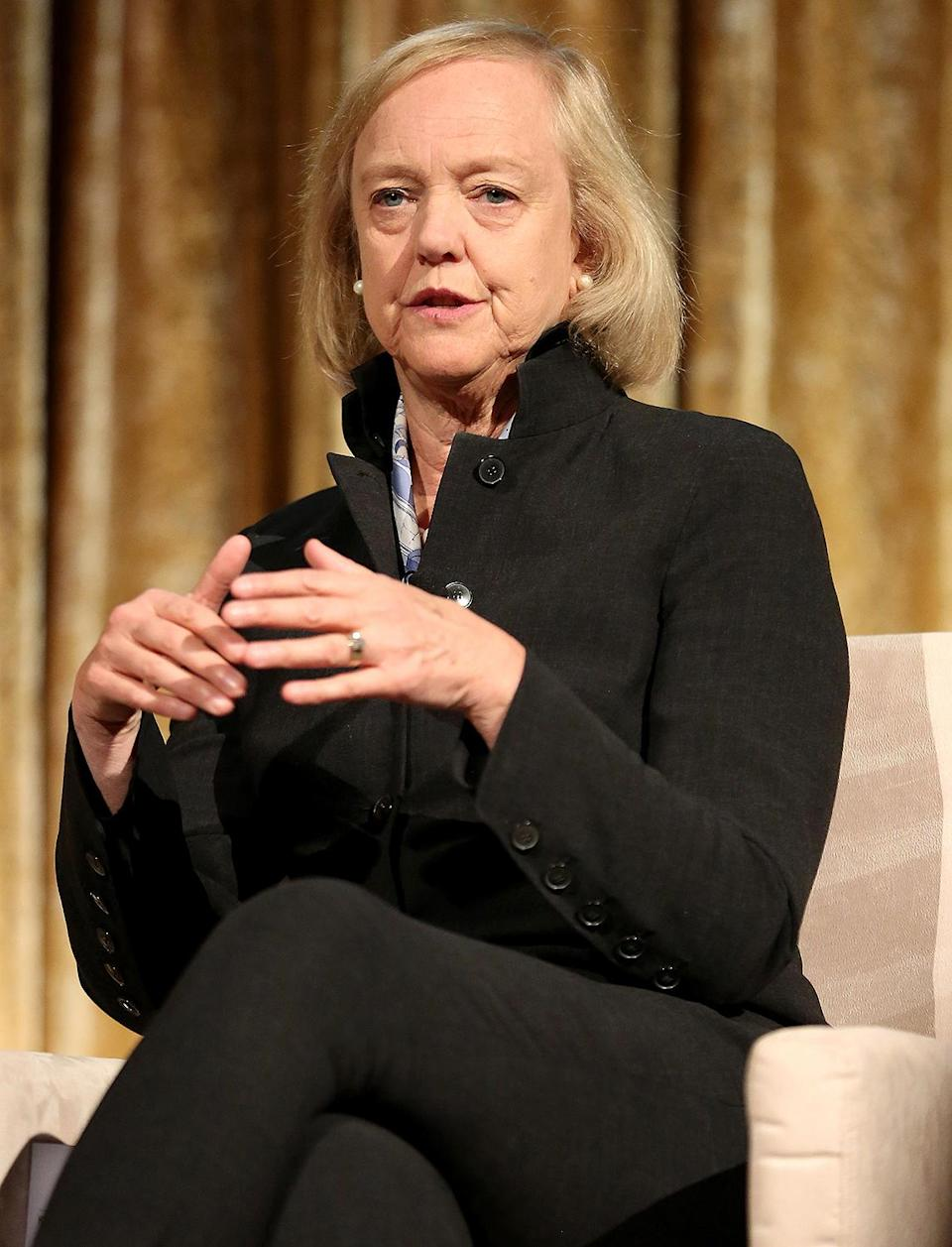 """<p><b>Former president and CEO Hewlett-Packard, former Republican gubernatorial candidate and current CEO of Quibi</b></p> <p>Whitman said during a <a href=""""https://www.youtube.com/watch?v=t1leeTopLAY&feature=emb_logo"""" rel=""""nofollow noopener"""" target=""""_blank"""" data-ylk=""""slk:video at the DNC"""" class=""""link rapid-noclick-resp"""">video at the DNC</a>, """"I'm a longtime Republican and a longtime CEO. And let me tell you, Donald Trump has no clue how to run a business, let alone an economy,""""</p> <p>Whitman said. """"Joe Biden, on the other hand, has a plan that will strengthen our economy for working people and small-business owners. For me, the choice is simple. I'm with Joe.""""</p>"""