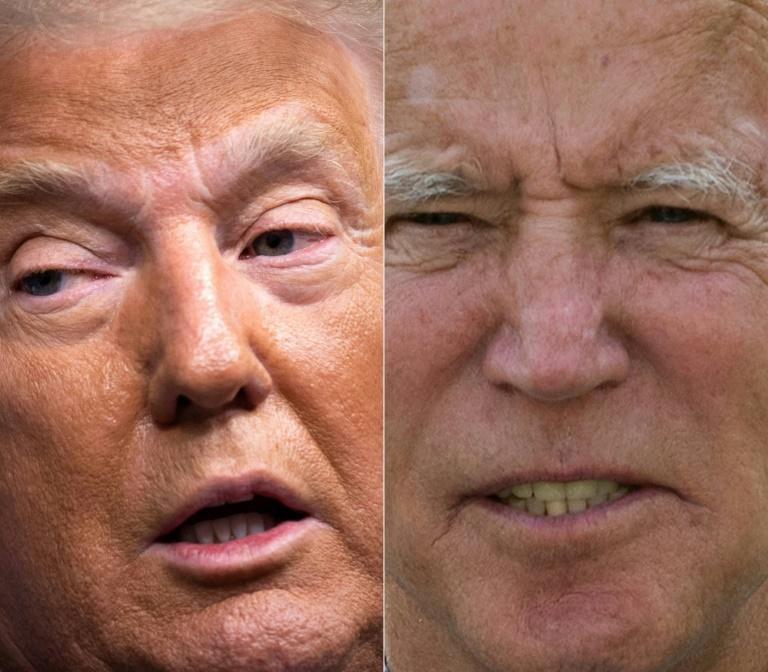 President Donald Trump (L) continues his frentic campaign rallies, while Democrat Joe Biden is preparing for their final televised debate