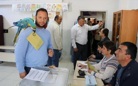 Polling in Turkeys local elections began on Sunday, with 57 million registered voters expected to cast their ballots - Credit: Sebahatdin Zeyrek/Anadolu Agency/Getty Images