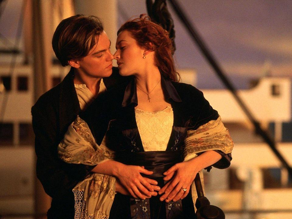 """<p>Naturally, <em>Titanic </em>appears on a list of the all-time best romantic movies. First released in 1997, James Cameron's doomed love story continues to impact culture—and Leonardo DiCaprio and Kate Winslet continue to be asked about whether their characters could've shared that piece of wood. </p><p><a class=""""link rapid-noclick-resp"""" href=""""https://www.amazon.com/Titanic-Leonardo-DiCaprio/dp/B008PHN6F6?tag=syn-yahoo-20&ascsubtag=%5Bartid%7C10072.g.33383086%5Bsrc%7Cyahoo-us"""" rel=""""nofollow noopener"""" target=""""_blank"""" data-ylk=""""slk:Watch Now"""">Watch Now</a></p>"""