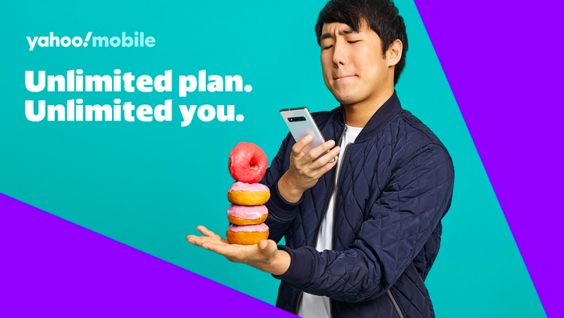 Yahoo Mobile has unlimited data for all those Instagram stories—and calling home, too, of course! (Photo: Yahoo Mobile)