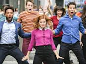 """<p><em>Zoey's Extraordinary Playlist </em>might just be the definition of """"feel good TV."""" Zoey Clarke (Jane Levy), a software engineer living in San Francisco, finds herself with an extraordinary ability: She can hear people's thoughts, but only in in pop-song form. After being briefly freaked out (and who wouldn't be?), Zoey makes it her mission to subtly help people using her knowledge. The show has infectious, feel-good energy, thanks to the torrent of hummable music and the cast of characters you can't help but root for. Unfortunately <a href=""""https://deadline.com/2021/07/zoeys-extraordinary-playlist-cast-released-jane-levy-season-3-new-home-movie-1234785260/"""" rel=""""nofollow noopener"""" target=""""_blank"""" data-ylk=""""slk:cancelled after season 2"""" class=""""link rapid-noclick-resp"""">cancelled after season 2</a>, the existing episodes are nevertheless heartwarming. <br></p><p><a class=""""link rapid-noclick-resp"""" href=""""https://www.amazon.com/gp/video/detail/B085BS5NC8/ref=atv_dl_rdr?tag=syn-yahoo-20&ascsubtag=%5Bartid%7C10063.g.37608731%5Bsrc%7Cyahoo-us"""" rel=""""nofollow noopener"""" target=""""_blank"""" data-ylk=""""slk:Watch Now"""">Watch Now</a></p>"""