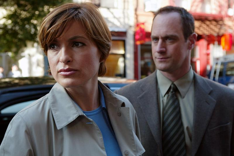 LAW AND ORDER: SPECIAL VICTIMS UNIT, (Tragedy), Mariska Hargitay and Christopher Meloni. 1999-, NBC / Courtesy: Everett Collection