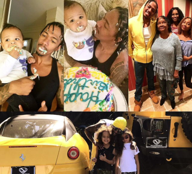 "<p>Oct. 8 was the singer's birthday — and he was surrounded by family, including all three of his children and his mom, Beth Gardner. ""In the words of the great poet Ice Cube, 'Today was a good day!'"" he wrote. (Photo: <a href=""https://www.instagram.com/p/BaBS-ZLF9ev/?hl=en&taken-by=nickcannon"" rel=""nofollow noopener"" target=""_blank"" data-ylk=""slk:Nick Cannon via Instagram"" class=""link rapid-noclick-resp"">Nick Cannon via Instagram</a>) </p>"